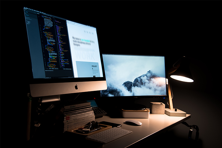 Working from home in the dark